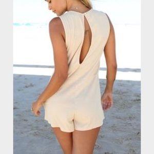 a2c50ac1d983 Sabo Skirt Pants - Sabo Skirt Bardot tan ribbed romper playsuit